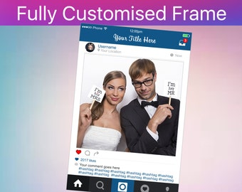 Photo Booth Frame, Instagram Sign, Social Media Photo Prop, Wedding Sign, Instagram Party, INSTANT Download PDF - Sale !!