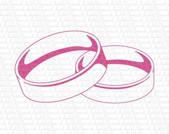 Wedding Rings Svg Clip art, Wedding band vector by SpeecchBubble