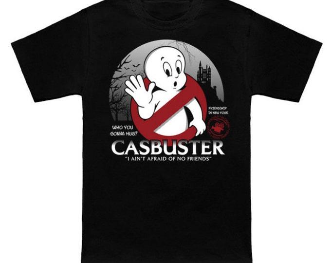 CASBUSTER Geek T-Shirt Ghostbusters/Casper the Friendly Ghost Mash-Up Funny Nerd Movie Parody
