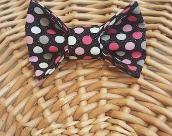 Black & Pink Gumball Bow, Headband, Bowtie