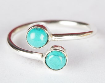 Turquoise Ring, Pure 925 Sterling Silver Ring, Turquoise Sterling Ring, Turquoise Jewelry, Handmade Ring, Boho Ring, Turquoise Jewelry