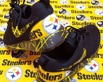 """Custom Nike Roshe Run """"Steelers"""" available in all sizes mens and womens"""