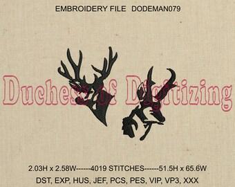 Deer and Elk Embroidery Design, Deer Embroidery Design,  Elk Embroidery Design, Deer Embroidery File, Elk Embroidery File, DODEMAN079