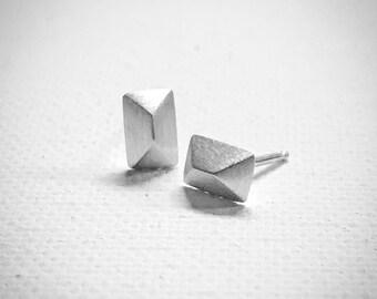 Triangle Stud Earrings - Sterling Silver - Stud Earrings - Handmade Earrings - Modern Earrings