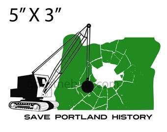 Save Portland History Sticker!