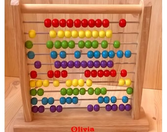 childrens abacus personalised