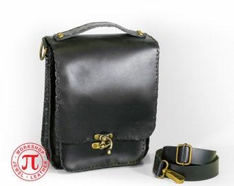 Upright leather bag II