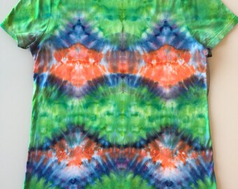 Tie Dye Handcrafted Womens T-Shirt Size: XL