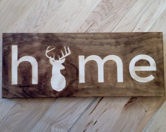 Home (Deer) Wall or Desk Art