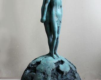 Fine art sculpture. Two people sculpture. Love among the chaos. 100% original