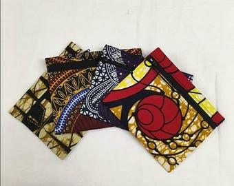 African Print Front Zipper Coin/Money/Card Wallet/Purse