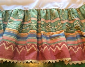 "Collier Campbell ""Gypsy Dance"" King Bed Skirt"