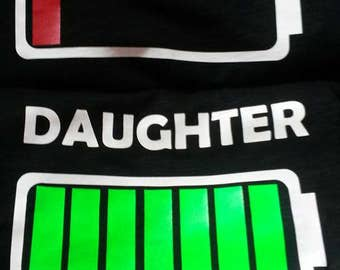 Mommy Daughter Matching T-shirts with Battery Powered Design