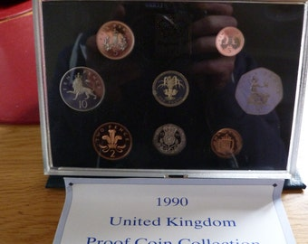 1990 unc royal mint coin collection