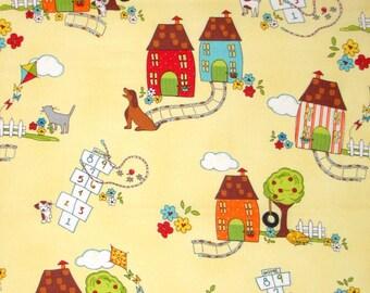 Timeless Treasures THE NEIGHBORHOOD by Monica Lee 100% Cotton Fabric