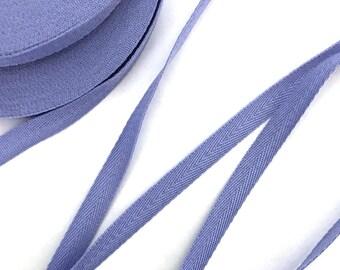 "1/4"" Iris Purple Blue Hanger Twill Tape Arts Craft 50 YDS"