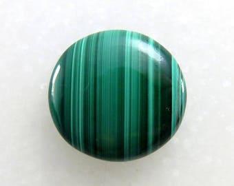 18Cts 21X21X4mm Natural Malachite Round Shape Loose Gemstone Cabochon Handmade Gemstone For Jewelry Making B-10611