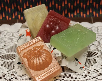 Garden Soap Gift Set, Soap Gift, Summertime Soap, White Tea & Ginger, Seed Theme, Garden Soap, Garden Theme Soap, Summer Soap, Mother's Day