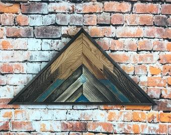 Reclaimed Lath Mountains, Lath Mountain Decor, Reclaimed Mountains Art, Modern Art Reclaimed Wood, Wood Mountains Wall Art, Lath Mountains
