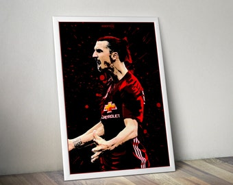 SALE - Zlatan Ibrahimovic Manchester United A3/A4 Poster