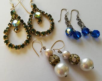 Vintage earrings lot #1