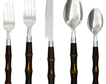 Bamboo-Style Flatware, 20-pc. Set