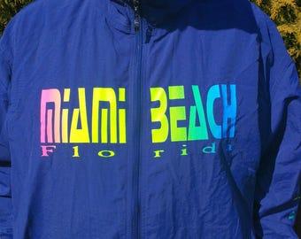 Vintage Miami Beach Uzzi Amphibious Gear Windbreaker Jacket XL
