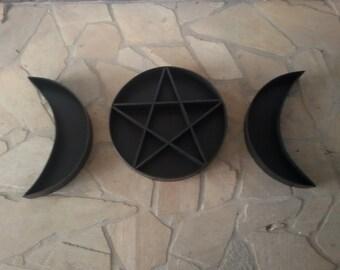 Pentagram Shelf Triple Moon