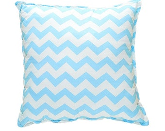 Pillow Square - Blue ZigZag