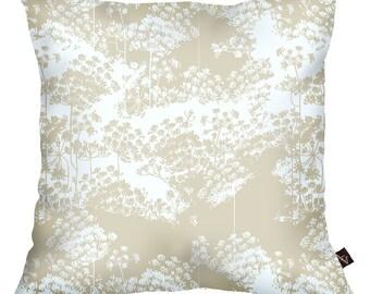 Cushion 40x40cm 100% cotton Ombelles beige
