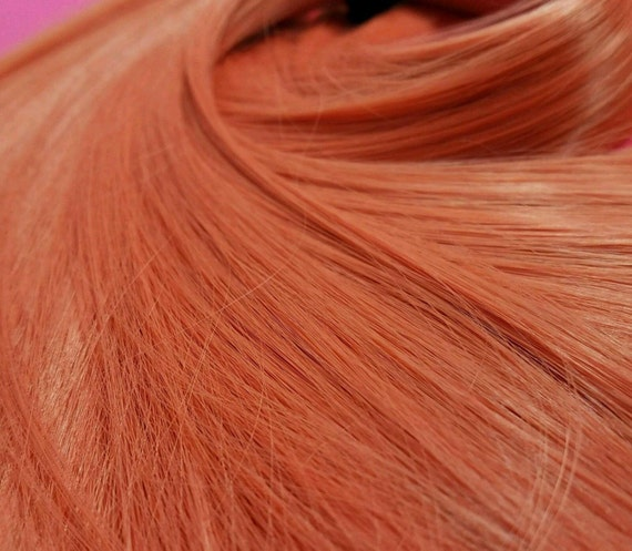 NEW! Nanaki Salmon Coral Orange Nylon Doll Rerooting Hair Hank My Little Pony, Vintage Dolls, Monster High Ever After, Crissy Blythe Dolls