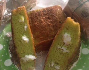 Pistachio Cake with Coconut Icing