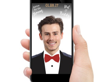 Wedding Snapchat filter // Advice for the Groom // CUSTOMIZED