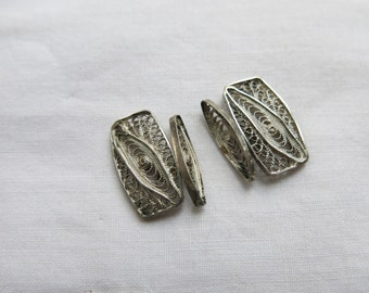Vintage filigree cufflinks