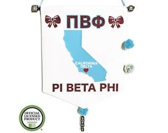 Pi Beta Phi Pennant Flag - Pi Phi Sorority Gift - Big Little Reveal - Bid Day Gift - Greek Gift - Greek Letters - Big Lil - Custom Sorority
