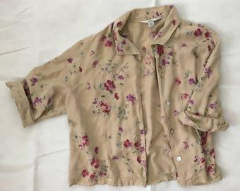 Vintage 90s floral jacket
