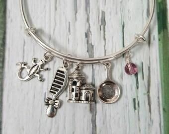 Rapunzel Inspired Bracelet, Fantasy Jewelry, Fairytale Jewelry, Princess Jewelry, Gifts for Women, Tower Princess Jewelry,  Free Shipping