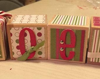 Handmade Word blocks