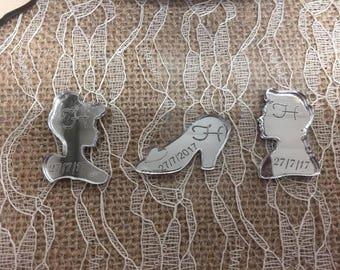 Silver Mirrored Cinderella Inspired Table Confetti Scatters