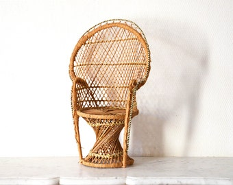 Lovely vintage wicker doll chair