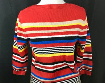 Primary Colors Boatneck Sweater
