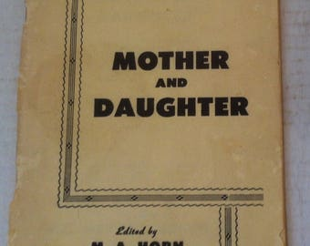 Vintage 1940s Booklet, The Digest of Hygiene, Mother and Daughter, Vintage Pamphlet, Mother Advice to her Daughter about Proper Hygiene Tips