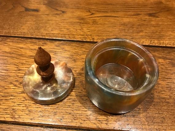 Small Translusent Resin Ring Pot