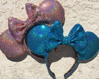 Holographic Caribbean Blue Ears