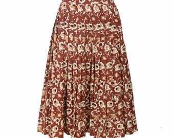 Simply Love Women High Waist Vintage Retro Skirt With Flowers