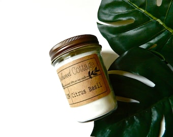 Citrus Basil Candle // Citrus Basil Soy Candle // Handmade Candle // Gift For Her // Scented Soy Candle // Citrus Candle