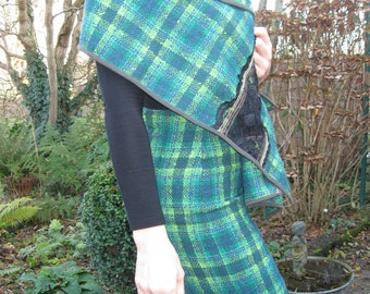 tartan high-waisted skirt