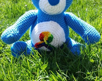 Crochet Autism Awearness AwareBear