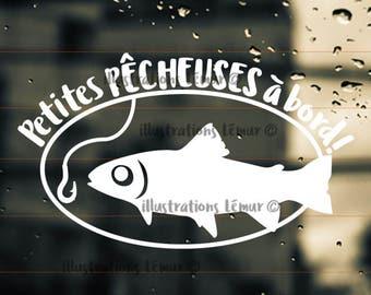 fisher man on board,baby on board-sticker-player-windshield sticker-vinyl-kid-gift-fish-