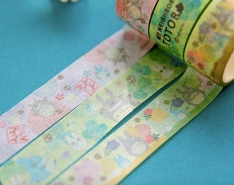 Totoro cute kawaii washi sticky masking deco tape choice of designs